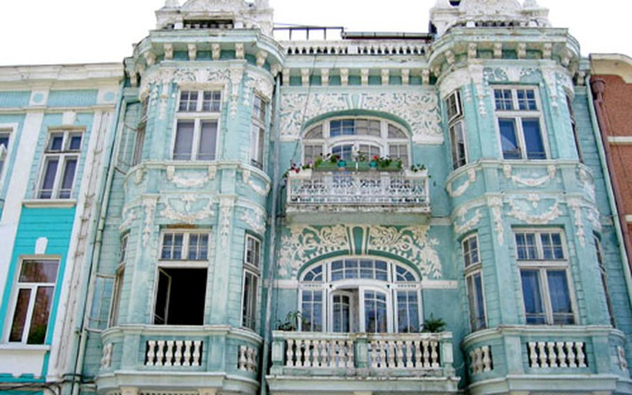 The ancient seaport city of Varna, Bulgaria, features some colorful and ornate architecture. It's the country's third-largest city.