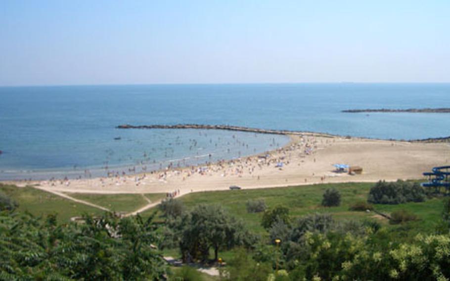The sandy beaches of Romania's Black Sea coast draw the most tourists.