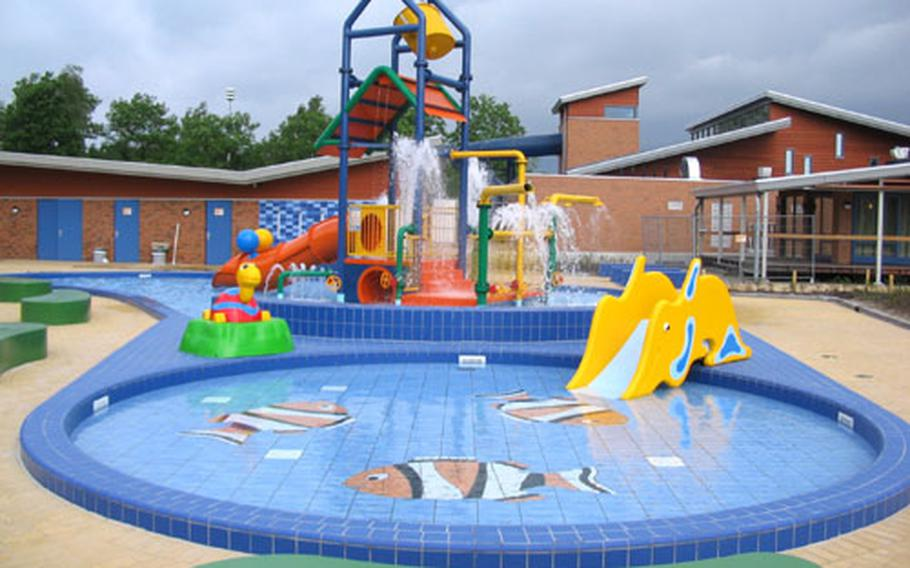 Among the facilities frequently found at bungalow parks or children's pools, such as this one at Het Land van Bartje in Ees, the Netherlands.