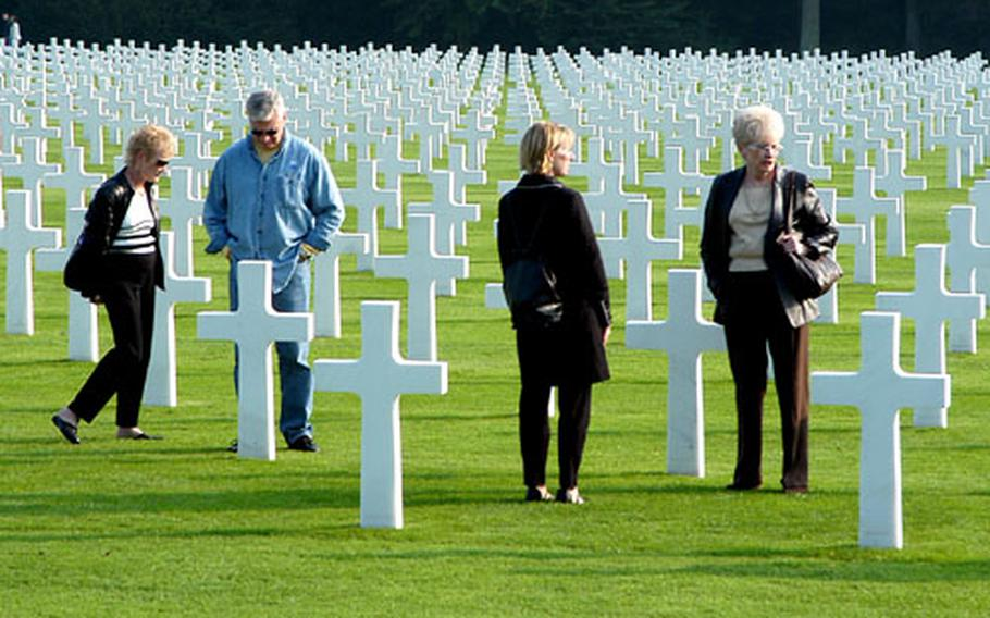Visiting the Luxembourg American Cemetery, where 5,076 American military dead are buried.