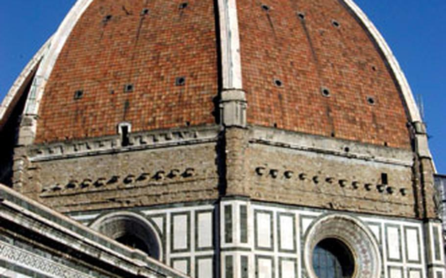 The dome of the Santa Maria del Fiore in Florence can be seen for miles and is the most-famous symbol from a city that boasts some of the most prized artwork in the world.
