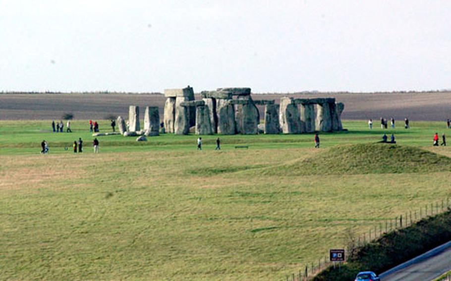 Stonehenge is at its most impressive from this distance, when seen in its context among farms and fields in the English countryside.
