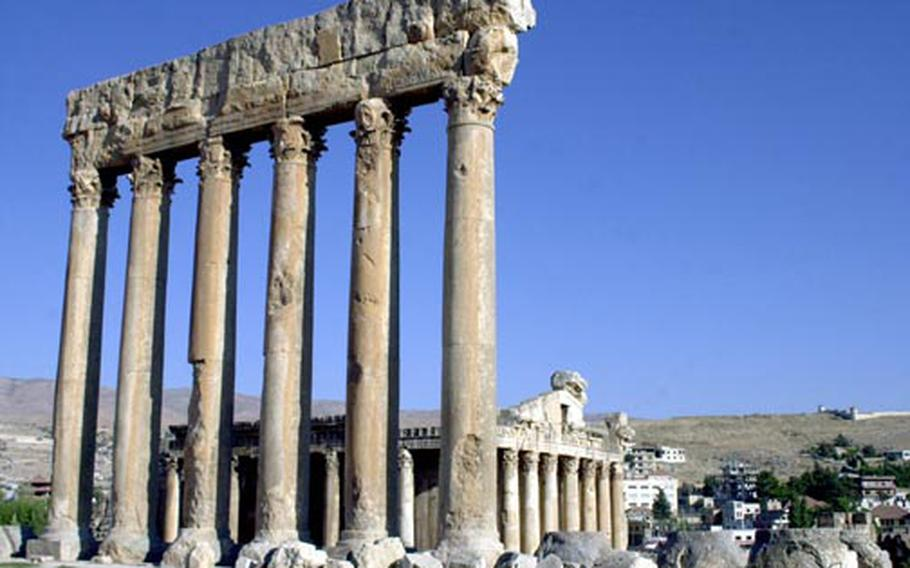 The temple ruins at Baalbek, Lebanon, are among the most awe-inspiring sites in the world, and are the largest Roman ruins anywhere. The complex can take the better part of a day to explore, and is best enjoyed in the early morning or late afternoon.