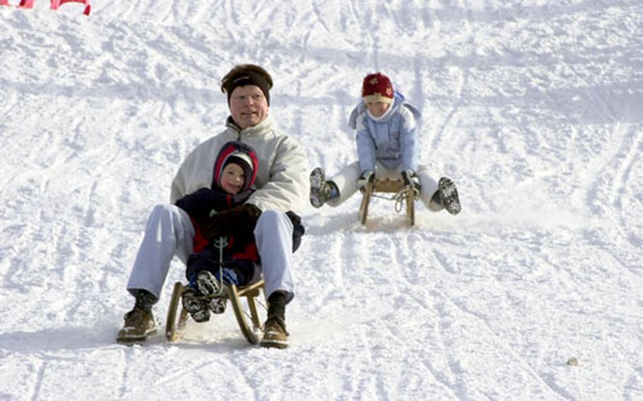 Sledding is just as popular as skiing at Erbeskopf.