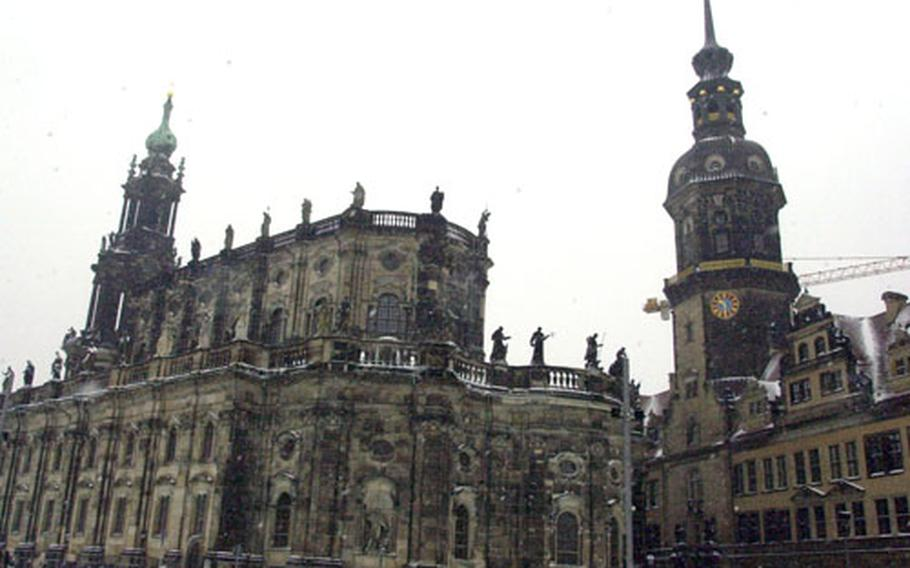 Dresden's cathedral, the Katholische Hofkirche, is one of the landmarks of the city.
