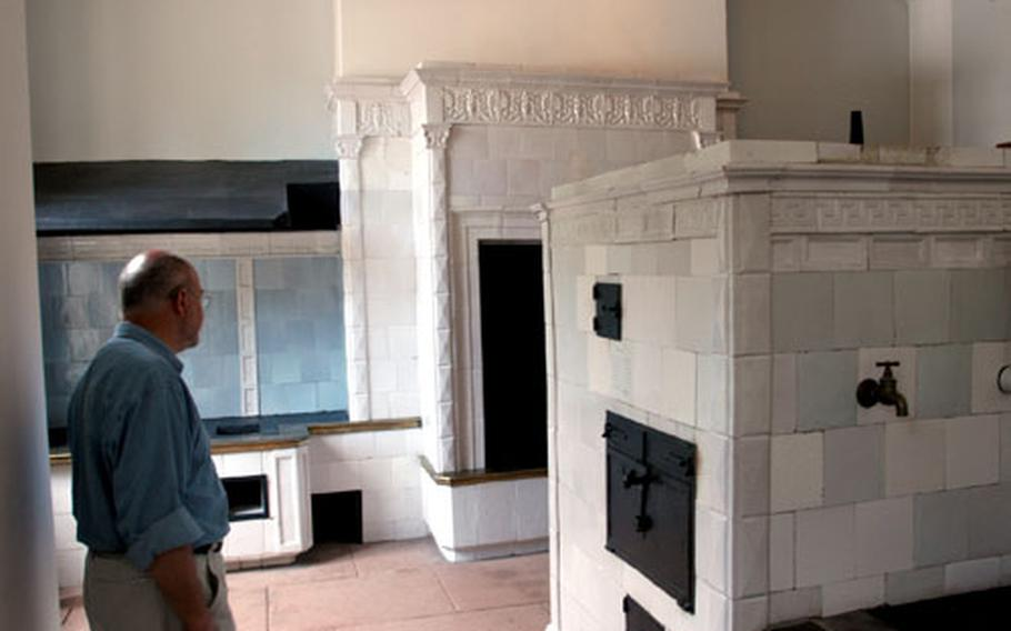 The kitchen of Villa Ludwigshöhe, summer residence of Ludwig I of Bavaria.