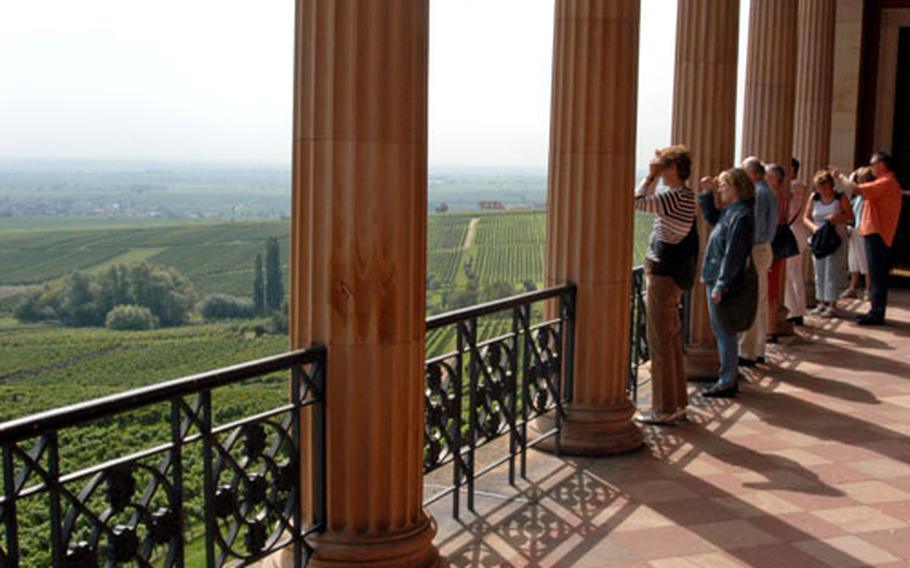 Villa Ludwigshöhe, summer home of Bavaria's Ludwig I, offers a lovely view of the Rhine Valley.
