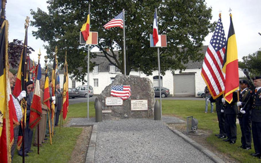 On Sept. 2 in the village of Beauwelz, Belgium, a plaque was unveiled in tribute to the 39th Infantry Regiment, credited with liberating Beauwelz exactly 62 years earlier.