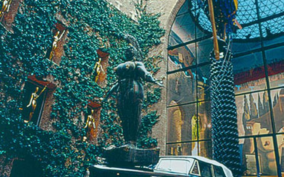 The Teatre-Museu Dali is housed in a 19th-century theater where Salvador Dali had his first exhibit. Dali redesigned the theater as an exhibit area for his works and other off-beat displays. Among the touches: a Cadillac full of money and fake plants sits in the central patio.