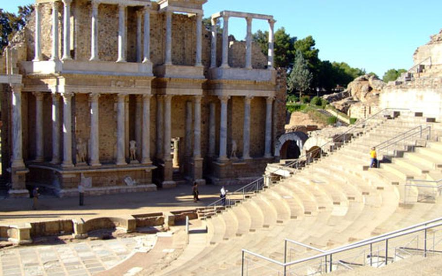 The Roman theater in the small city of Merida is still used annually for a drama festival.