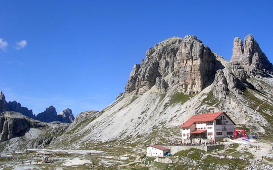 The trail leads to the Rifugio Locatelli, where hikers could rest and get something to eat before returning to their starting point.