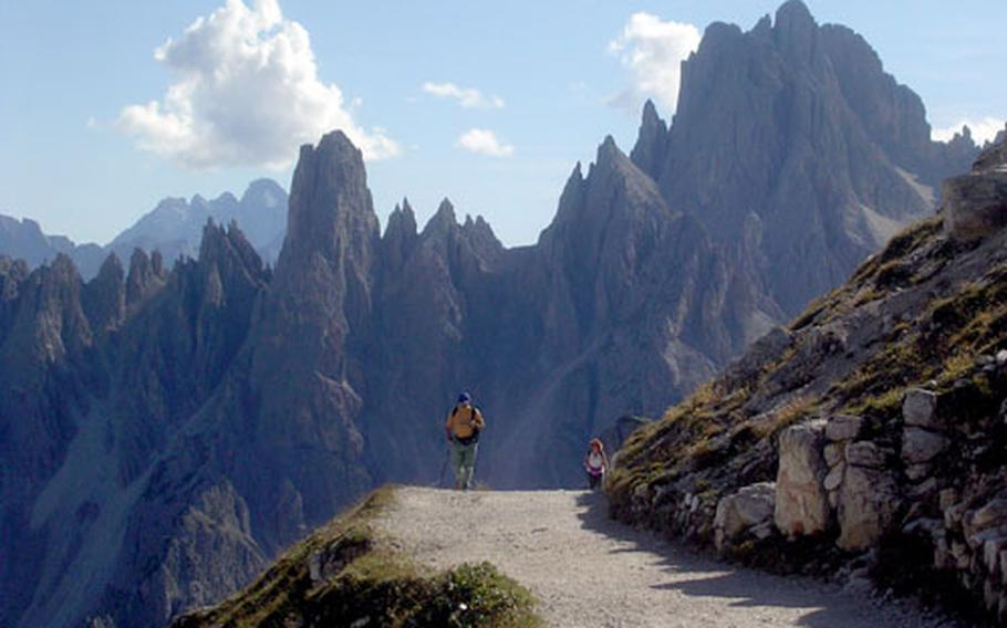 The trail to the first refuge, Rifugio Lavaredo, starts out with a wide, graveled path and fantastic views. It gets more difficult as it goes on.