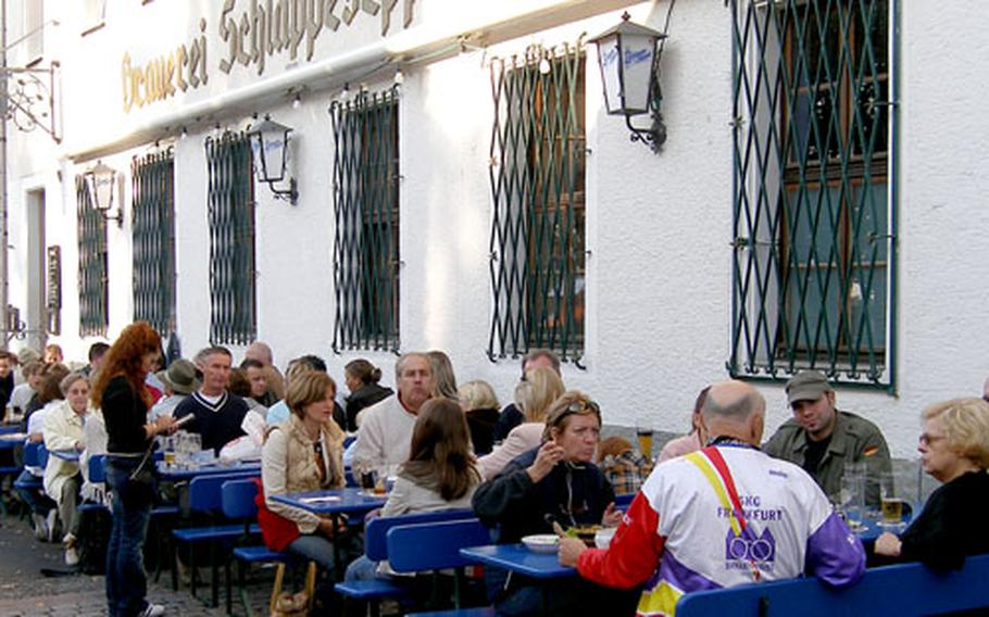 The Schlappeseppel brewery tavern, just down the street from Johannisburg Palace, is popular with locals and tourists alike.