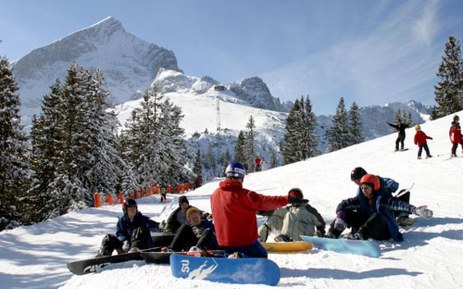 A snowboard instructor at Edelweiss Lodge and Resort goes over the fundamentals with his young charges during a class conducted last ski season.