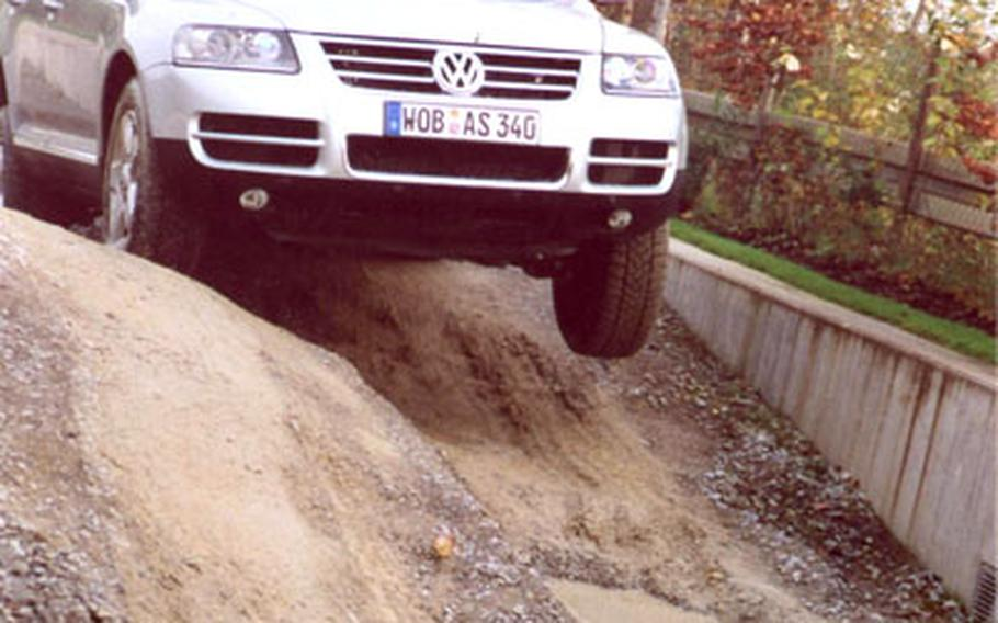 Driving Autostadt's all-terrain track with its 11 obstacles can be hair raising. At least part of the car is airborne when going over deep ruts, and one hill is so steep that it is impossible to see the descent from the top.