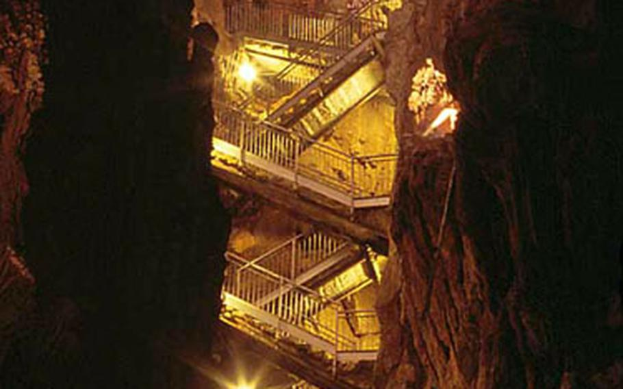 It might seem like the steps down into the Grotta Gigante are endless if you're not used to climbing stairs. But tours generally travel through at a leisurely pace. The tour office lists 500 steps down, and 500 more back up. Count them yourselves to make sure.