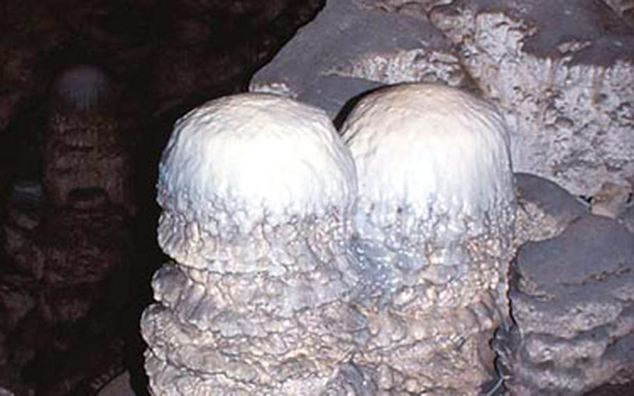 These formations, dubbed gelati because of their resemblance to ice ice creamj, don't look quite good enough to eat.