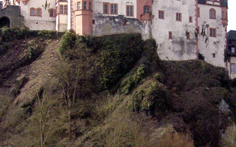 Weilburg Palace, and the old town sits high on a bluff above the Lahn, surrounded by the river on three sides.