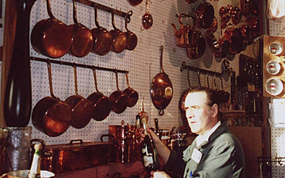 The E. Dehillerin kitchen cookware store carries 295 different items in copper -- a favorite with cooks as it diffuses heat evenly.