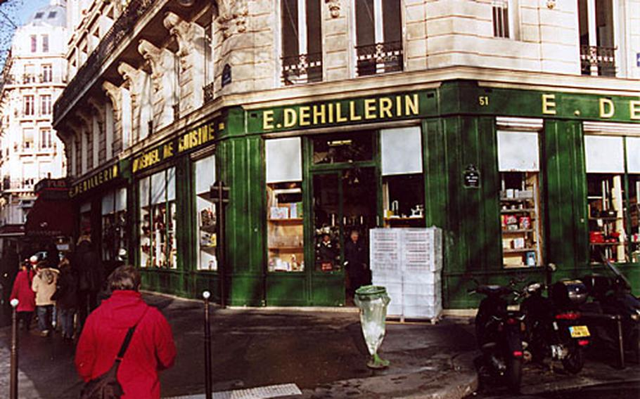 The E. Dehillerin cookware supply store, located in the Les Halles area of Paris, was founded in 1820.