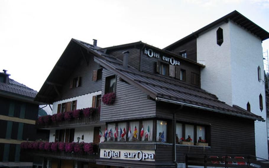 The Hotel Europa, in the center of Madonna di Campiglio, Italy, is a comfortable and inexpensive family-run hotel.
