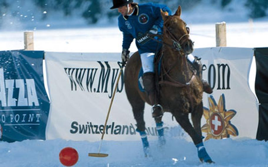 Polo, anyone? The frozen lake at St. Moritz makes a great place for it.