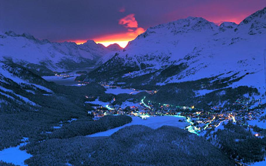 At night, partying comes alive along with skiing on the floodlit slopes.
