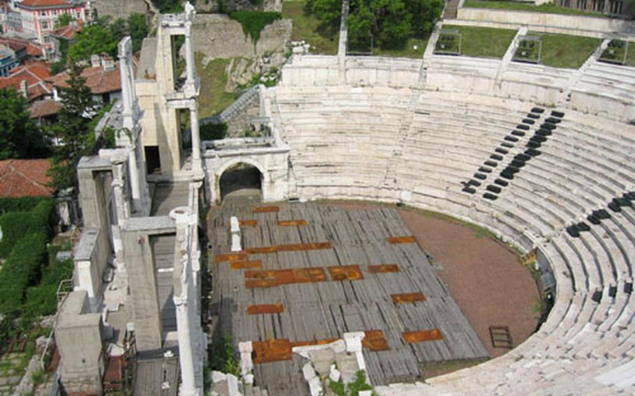 Plovdiv's second-century Roman theater has 7,000 marble seats — most of which are filled during outdoor summer concerts, including a Verdi festival in May and June.