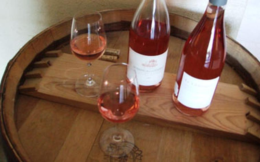 Rosé is a summer favorite in southern France. French rosés are dry, not sweet.