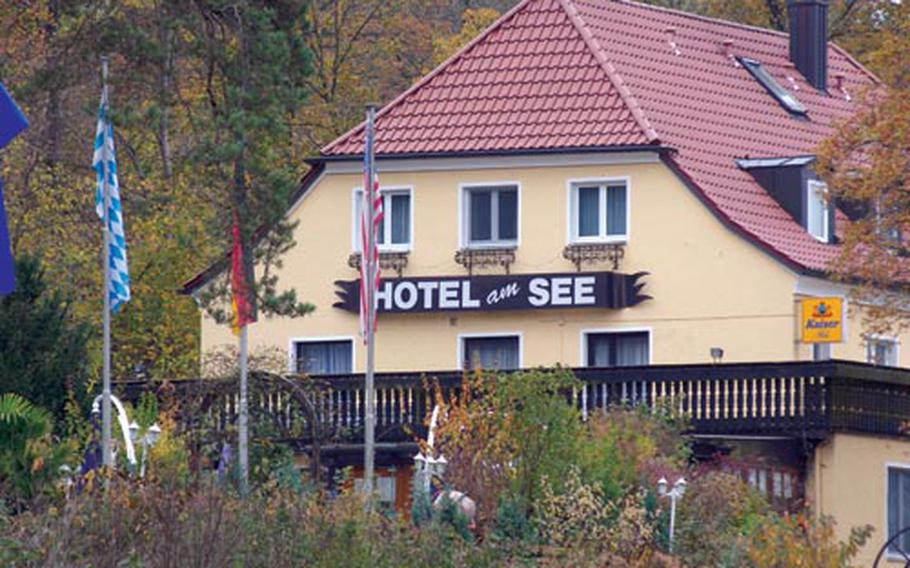 The Hotel am See offers a great buffet and view of the nearby lake.