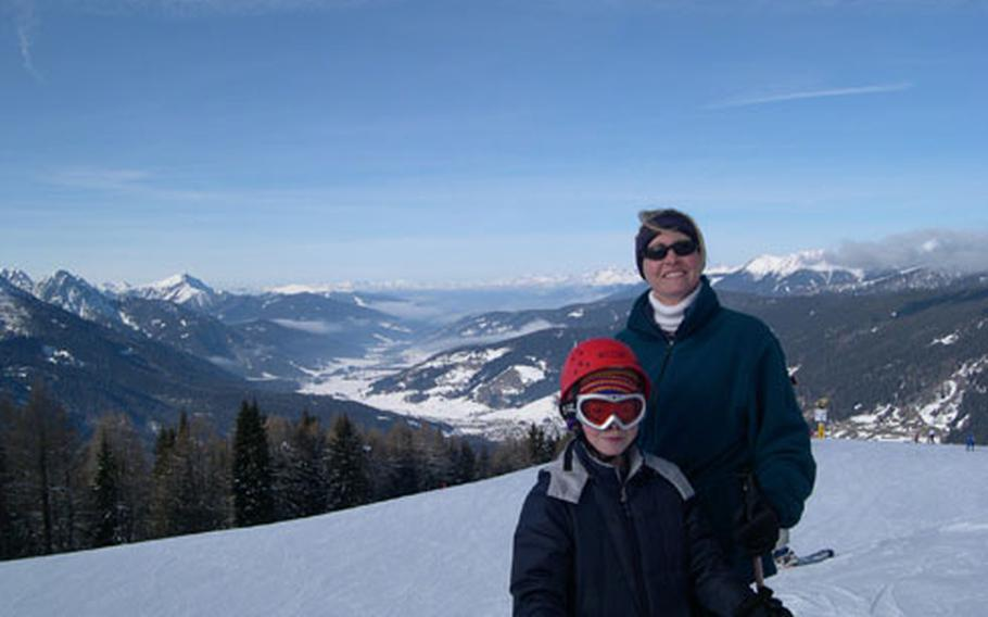Laura Corder, a Department of Defense Dependents Schools teacher, and her son, Adam, are among the members of the Aviano Ski Club who went on a trip to Bad Moos last year