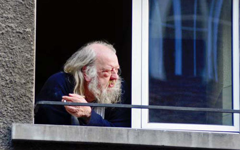 This could be the famous grandfather of Heidi from the story by Johanna Spyri, spending his last years in a home in Bern.