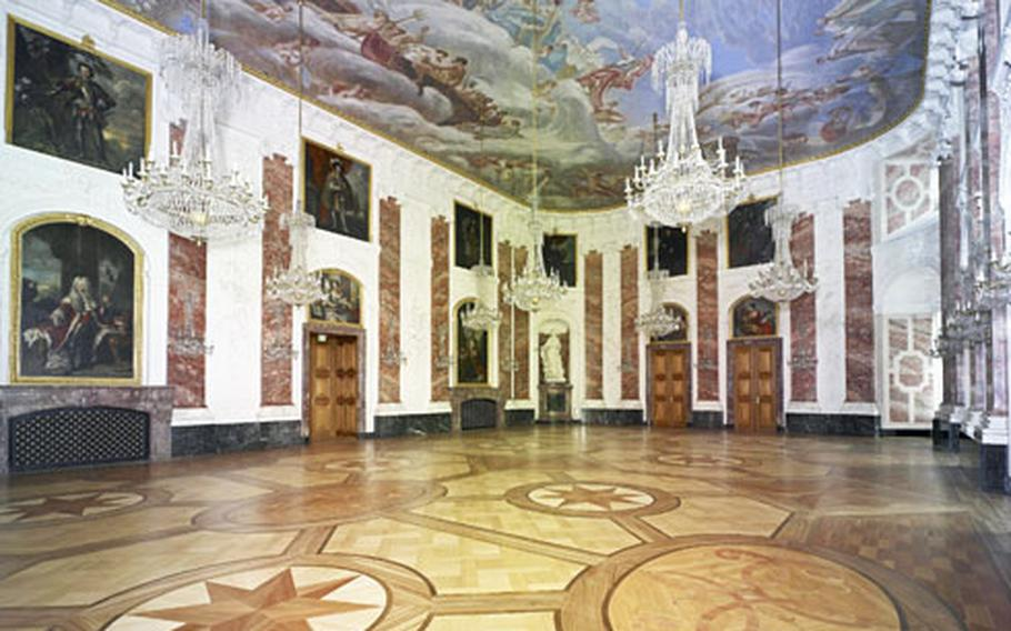 The Rittersaal, or Knights Hall, is the centerpiece of Mannheim palace's main building.