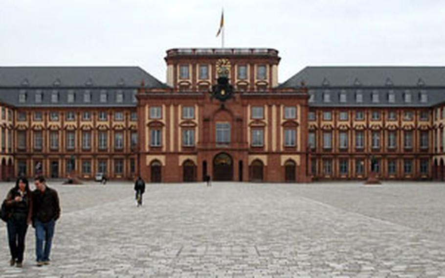Mannheim palace was built in the early 18th century under Elector Carl Philipp. It is one of the largest baroque palaces in the area.