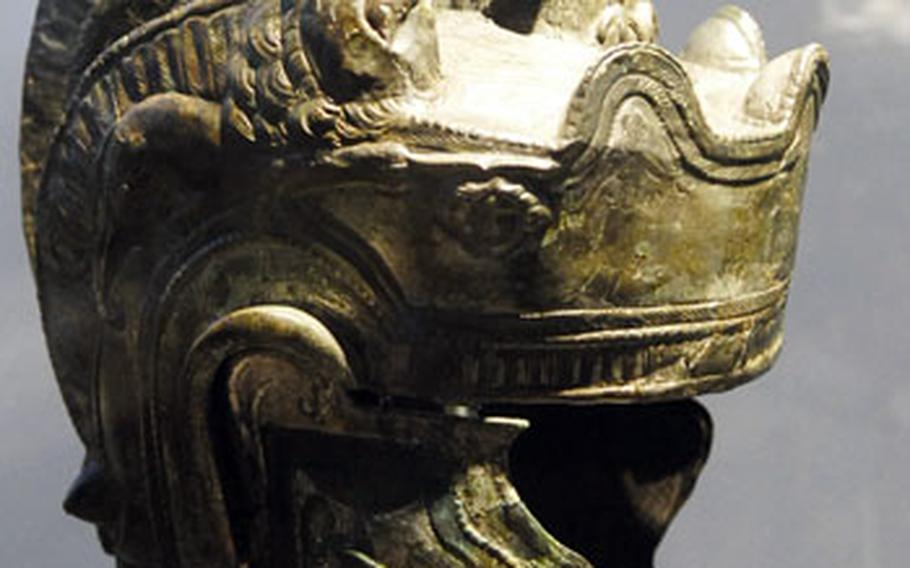 This Roman parade helmet from the second century is the only reconstructed example of its type in existence.