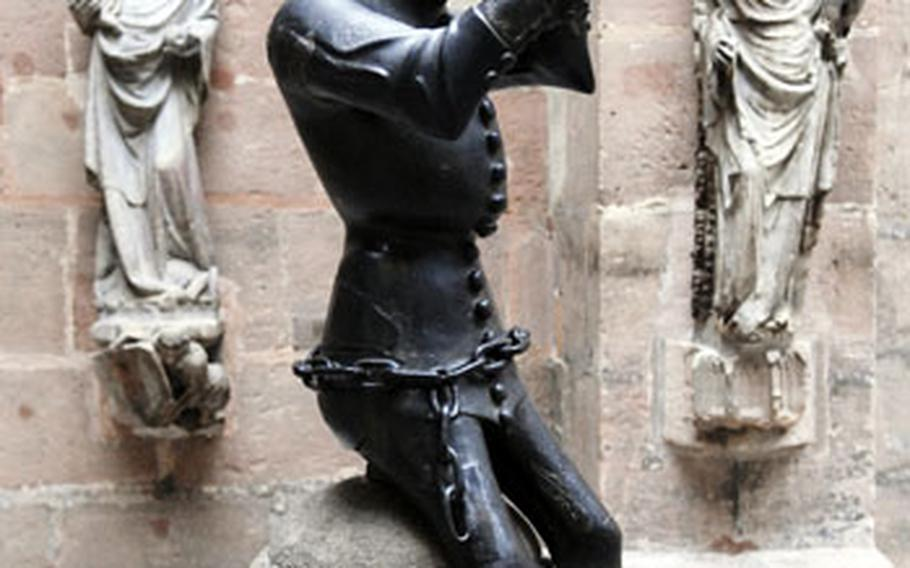 """This 14th-century """"Hansel"""" was once part of a fountain in the courtyard of a Nuremberg hospital."""