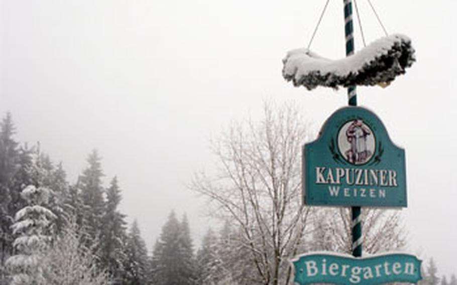 Or take a break from skiing at a snowy beer garden.