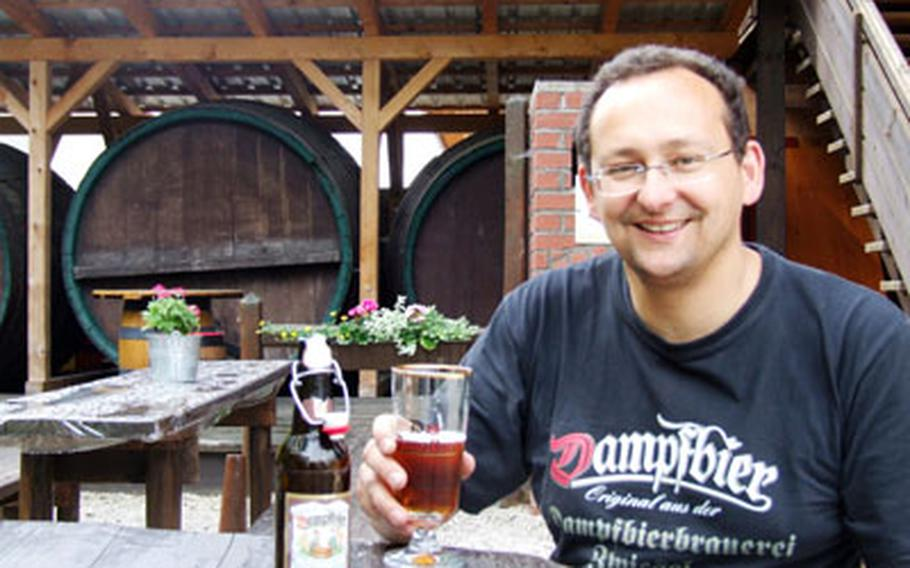 Mark Pfeffer is the fifth generation of his family to head the steam beer brewery Dampfbierbrauerei Zwiesel in Zwiesel, Germany.