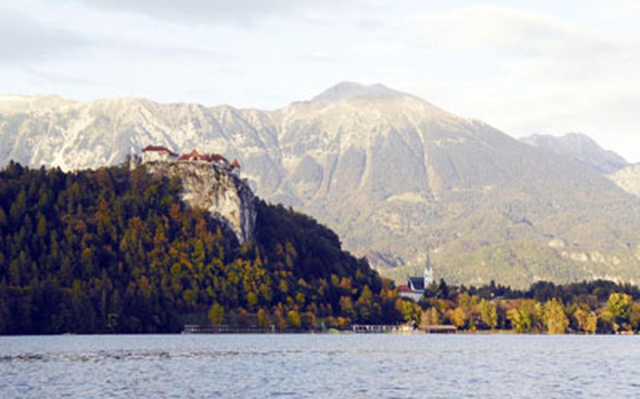 Bled features a pristine lake and a centuries-old castle sitting on a bluff 300 feet above the water.