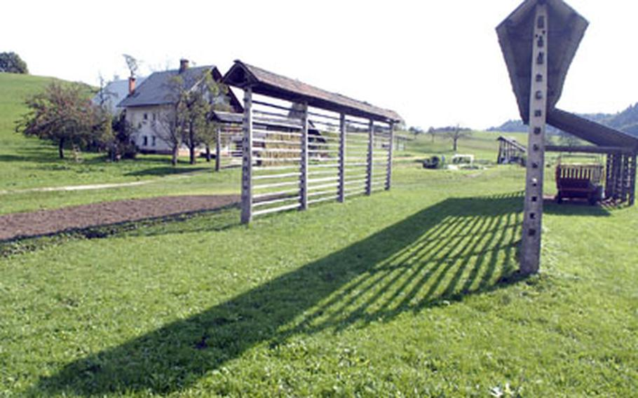 A defining feature of Slovenia are wooden racks used to dry hay