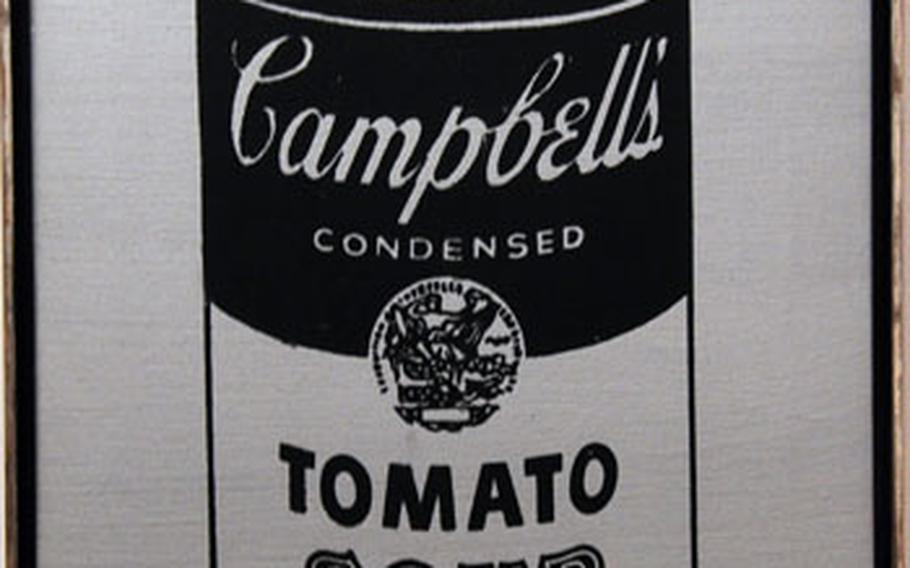 One of Warhol's early paintings of a Campbell's soup can is among the Pop Art works on display at the museum.