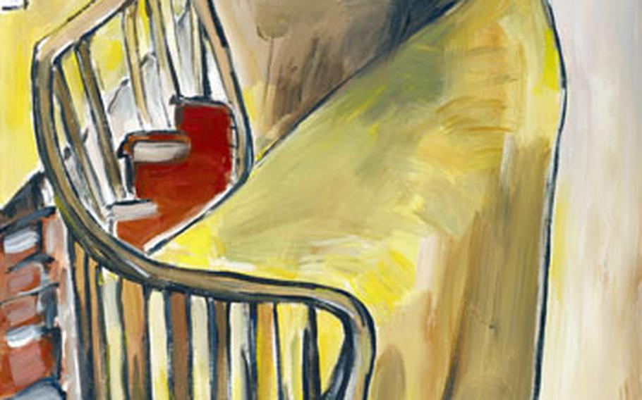 """""""Staircase"""" is one of the large canvases painted by Bob Dylan."""