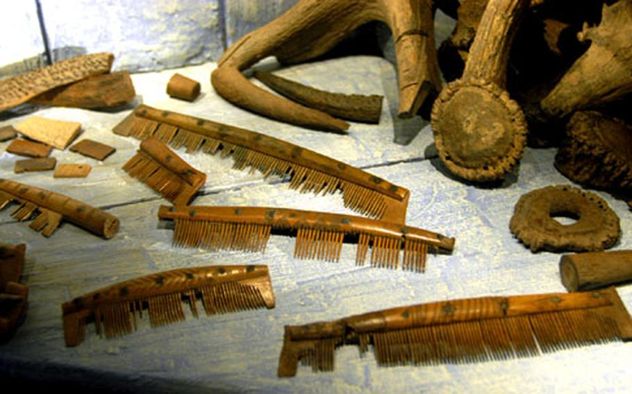 Combs were a common commodity available for trade in the 10th century town of Jorvik. They were crafted from animal antlers and rivets by skilled artisans. The Jorvik Viking Center in York, England, offers patrons the chance to see artifacts that are 1,000 years old.