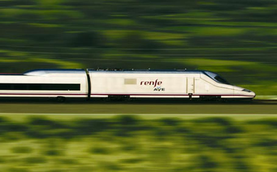 Spain's AVE trains can rip through the countryside at 220 mph or more.