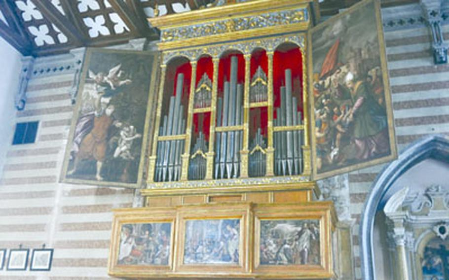 They don't build 'em like they used to, especially when it comes to Venetian organs. This organ, which is still in use, was built around 1500. It is housed in the parish church in Valvasone, Italy, a short drive from Aviano Air Base. Its cabinet was painted by Giovanni Antonio, the most famous artist in the region at the time, and his son-in-law.