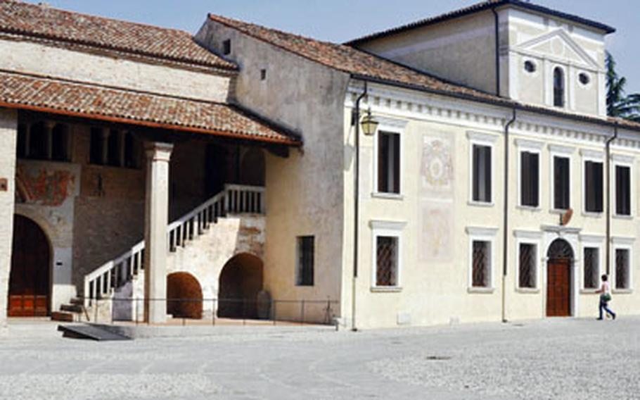 The Benedictine Abbey of Santa Maria in Sylvis doesn't look all that impressive from the outside in Sesto al Reghena. But the interior is filled with fading frescoes, which give an indication of how the colorful interior once looked. Cameras are prohibited inside.