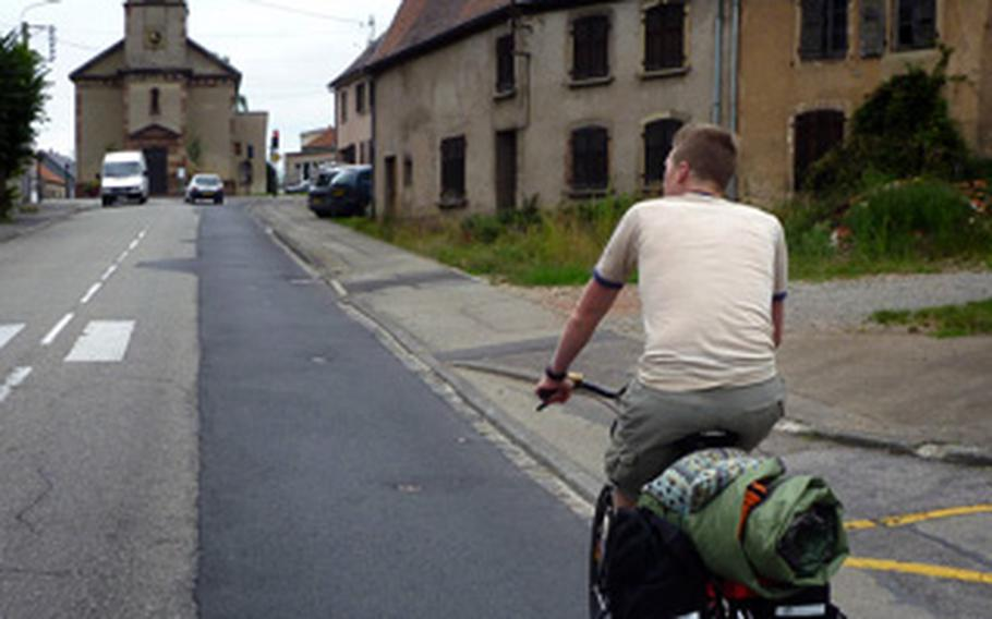 After entering France, riding partner Nick Schulte and writer Ben Bloker toured through several small villages.  There is a sense of freedom that comes from wandering around on a bicycle that they really enjoyed during this trip.