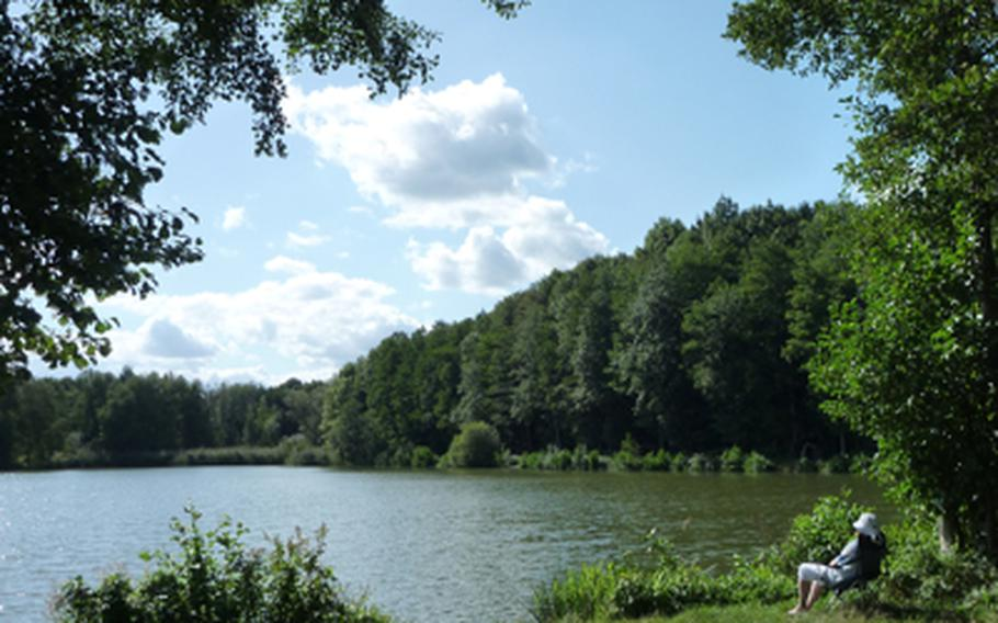 This picnic area in Waldmohr on the Glan River is an amazing stop along the Glan-Blies-Weg.