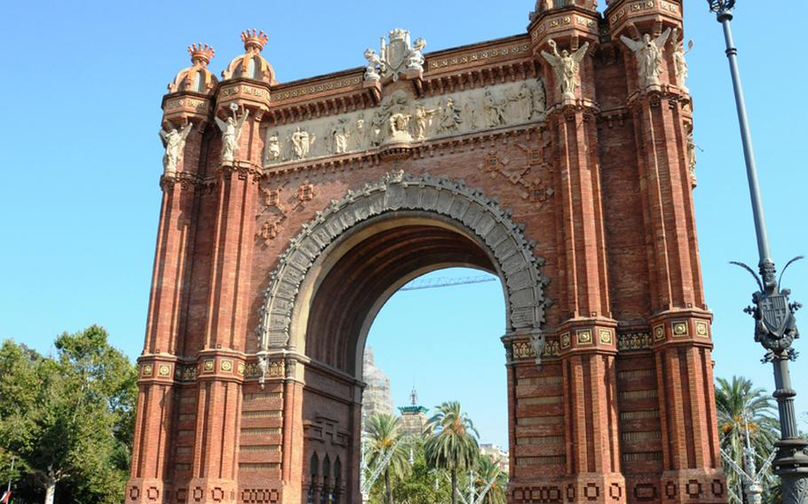 The Arc de Triomf in Barcelona was build for the 1888 Universal exhibition and is a main access gate to the city.