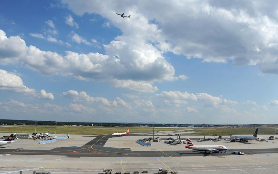 There is always plenty going on on the ground and in the air at Frankfurt Airport. The airport is Europe's third busiest after Heathrow in London and  Charles de Gaulle in Paris.